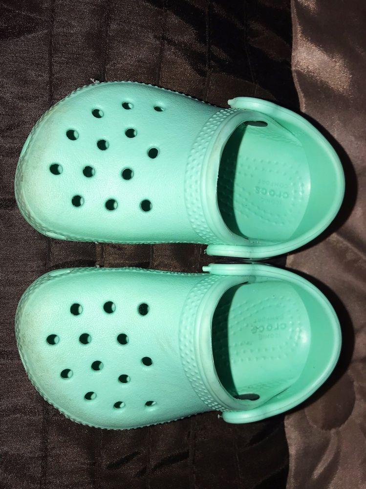 7e4c7ebef66e0f Infant Toddler Baby Blue Crocs Clogs Slip-On Shoes - Size 5  fashion ...