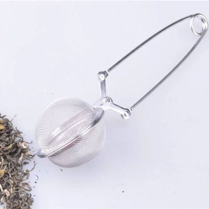 Stainless Steel Tea Spoon Mesh Sphere Ball Infuser Strainer Steeper Filter
