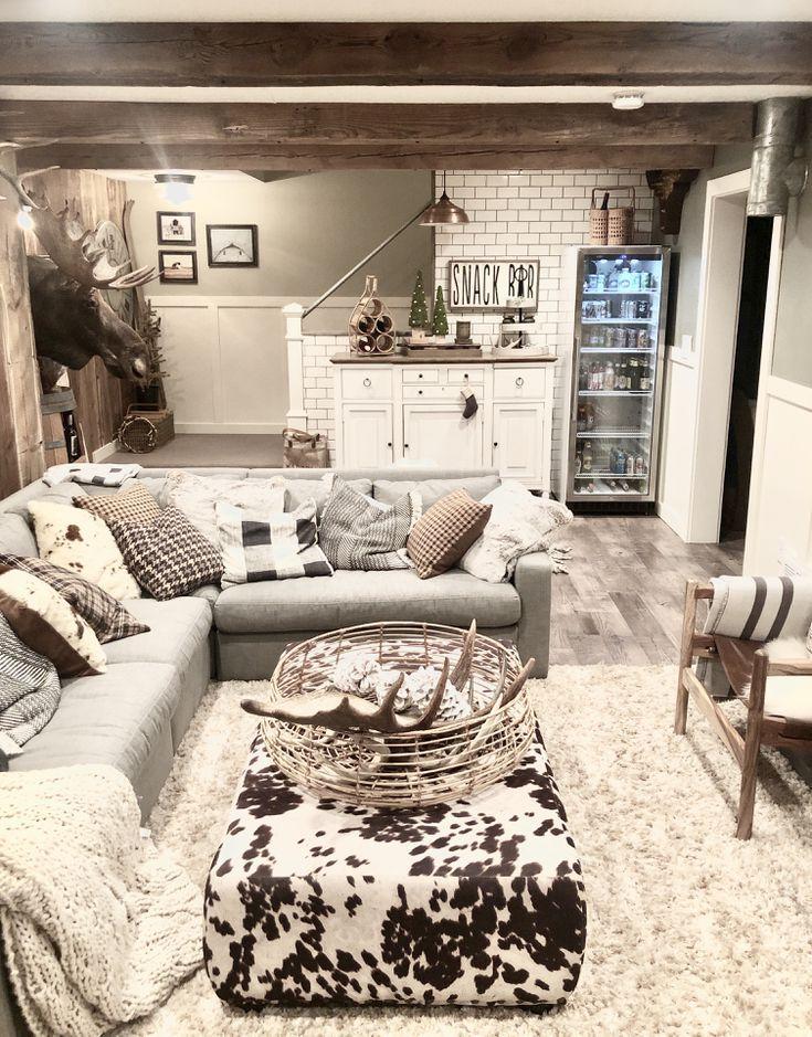 9 Amazing Finished Basement Design Ideas Finished Basement Designs Basement Living Rooms Basement Design