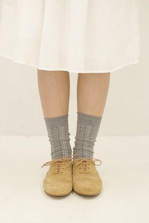 shoes, skirt, socks