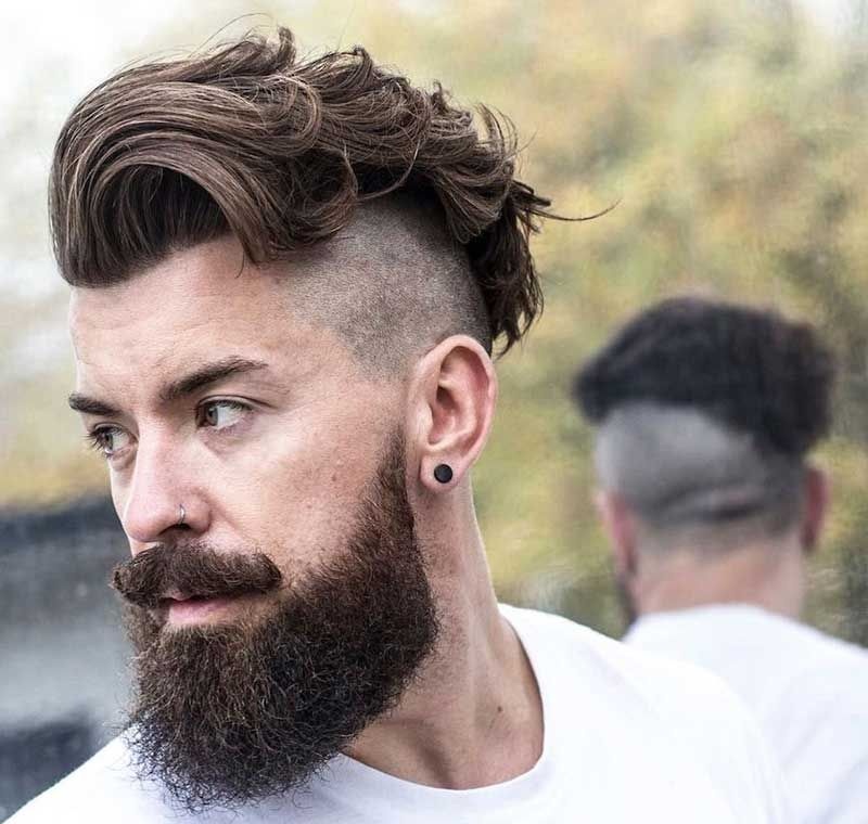 35 Inspiring Hipster Haircut Ideas For Trendy Men Men S Hairstyle Tips Undercut With Beard Beard Haircut Long Hair Styles Men