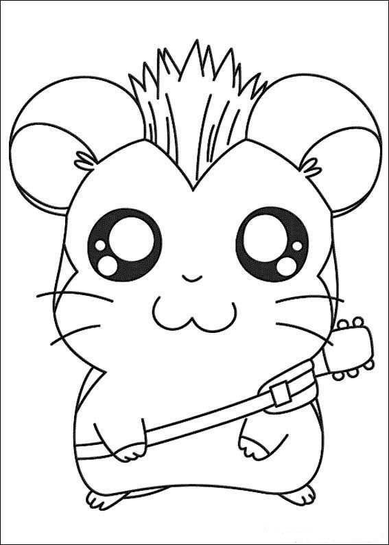 Hamtaro Coloring pages for kids. Printable. Online Coloring. 14 ...