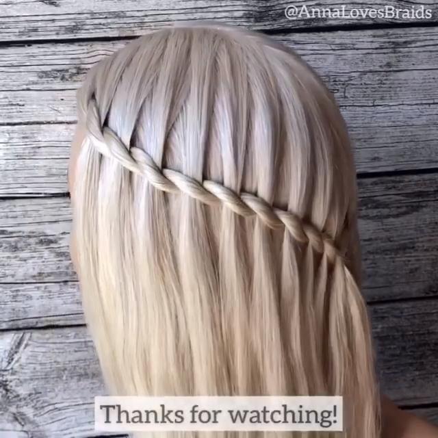 Beautiful Waterfall Braid Video In 2020 Hair Styles Aesthetic Hair Brunette Hair Color