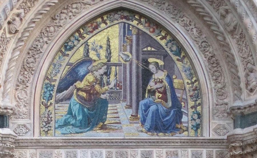 Image result for Porta della Mandorla Lunette by Jacopo della Quercia