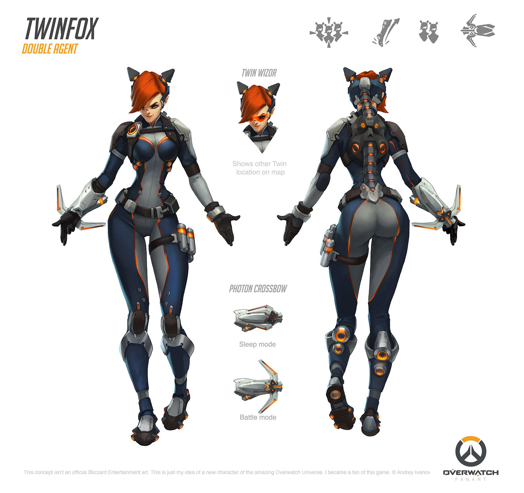 Overwatch Character Design Concept Art : Artstation twinfox fan made overwatch character