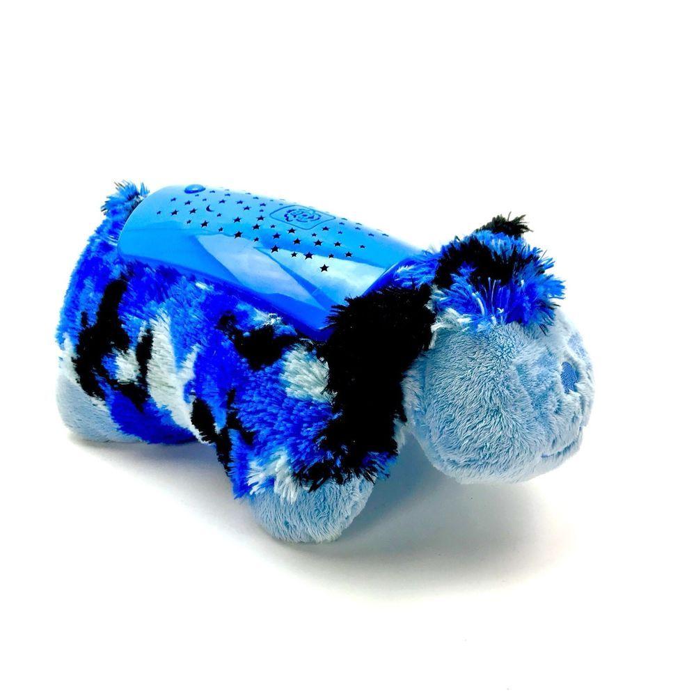 Pillow Pets Dream Lites Night Light Blue Camo Dog Toy Cushion Animal Pillows Childrens Night Light Night Light