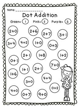 Dot A Dot Addition And Subtraction Freebie Addition And Subtraction Subtraction Dot Markers