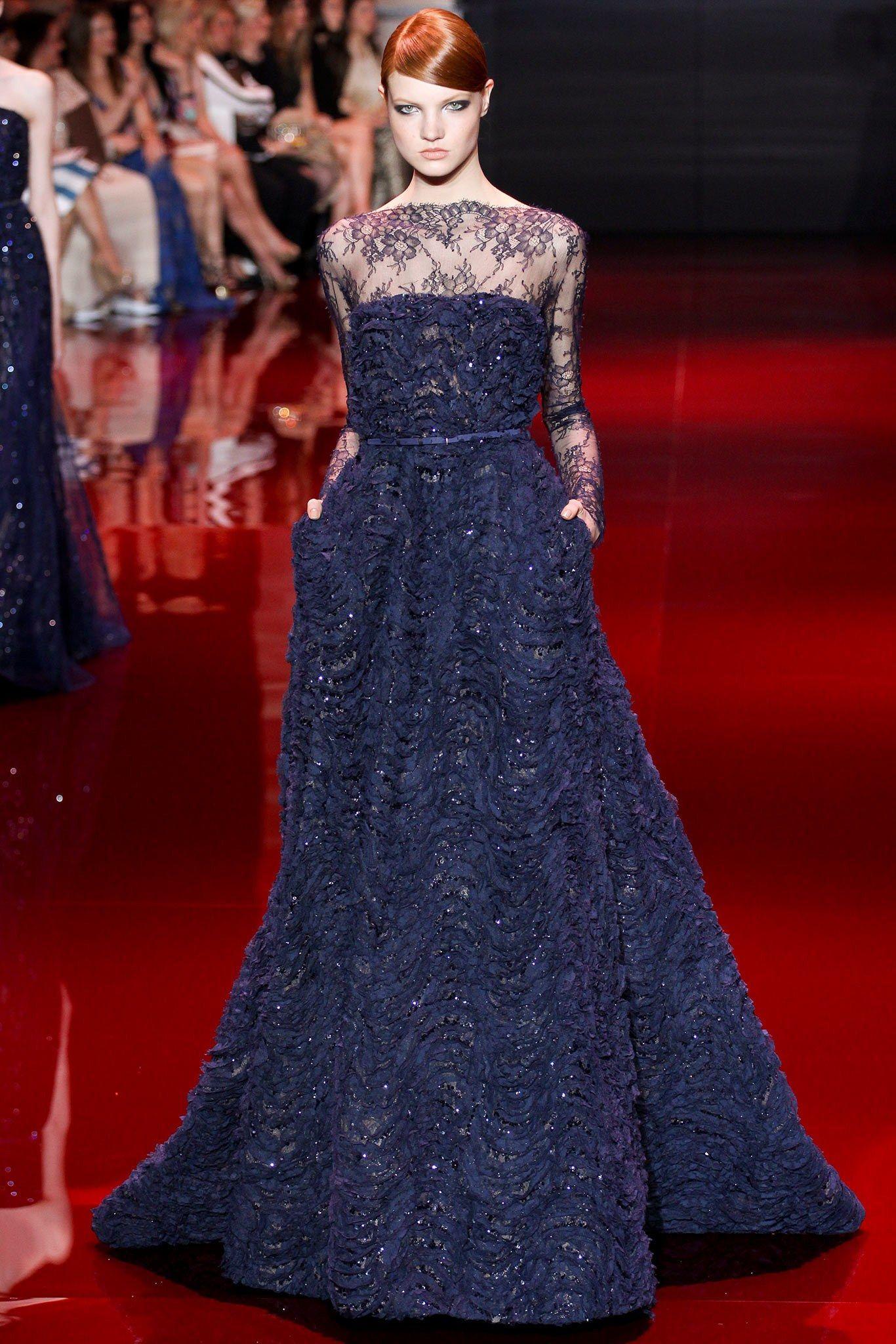 Elie Saab Fall 2013 Couture Fashion Show - Anastasia Ivanova (Women)