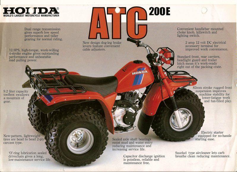 The Honda Atc Brochure Page Honda Honda Trike Atc