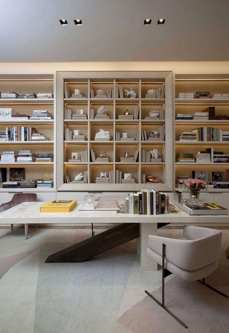 Blanco Interiores Roberto Migotto, para a Casa Cor São Paulo 2016 - bibliotecas modernas en casa