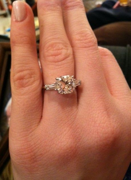0a1cdde8b81811 baguette cushion cut engagement ring - Google Search | Wedding: The ...