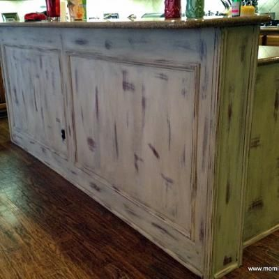 standard builders kitchen island gets a chalk paint makeover - Chalk Painted Kitchen Cabinets