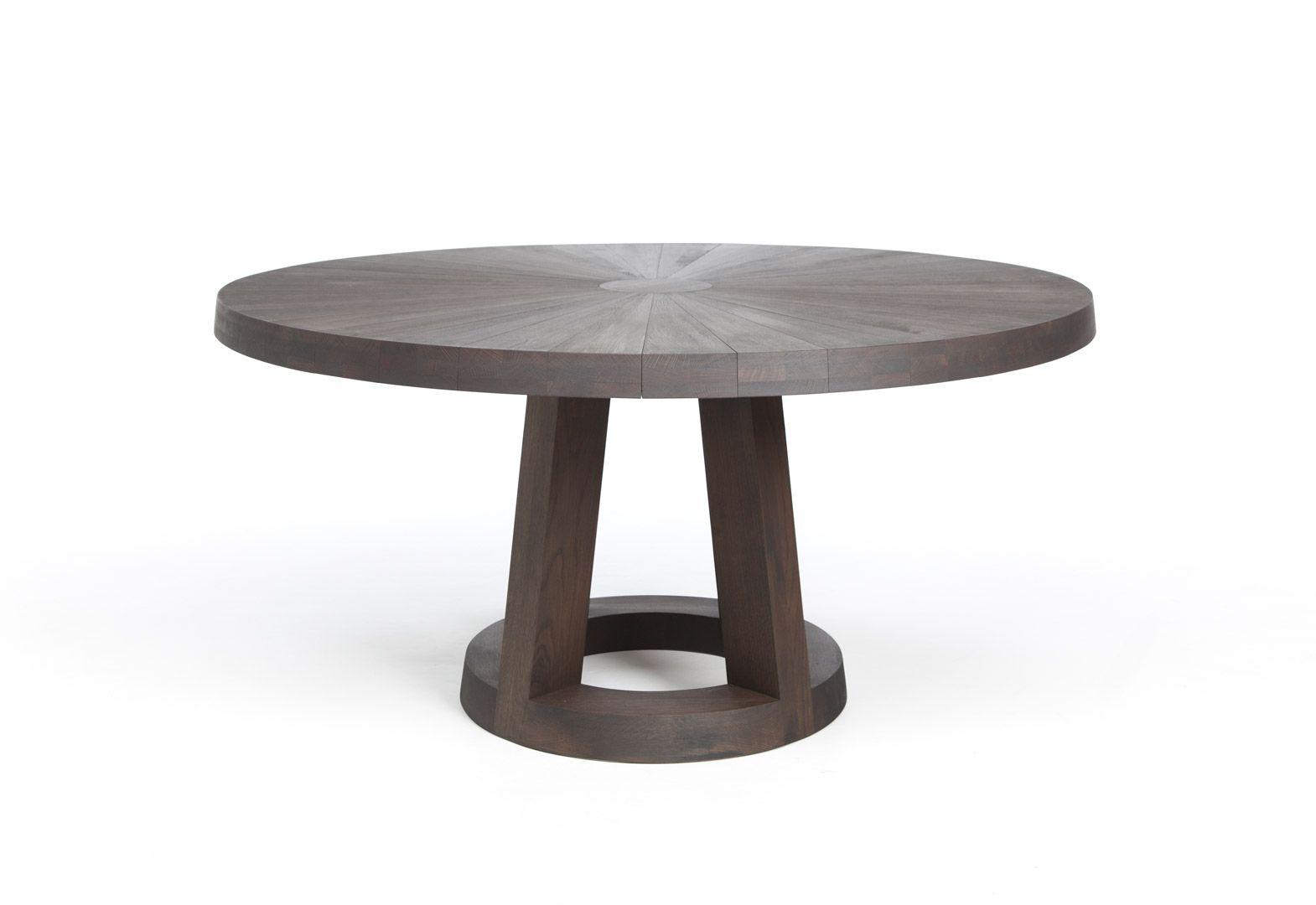 Tafel Remy Meijers : Ronde eettafel hout solid van ontwerper remy meijers