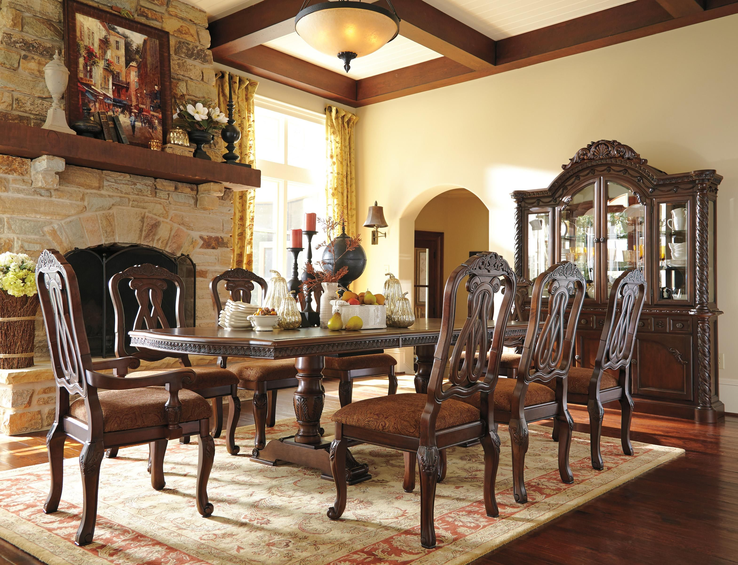 North Shore Formal Dining Room Group By Millennium Ashley Furniture Dining Dining Room Table Set Dining Room Sets