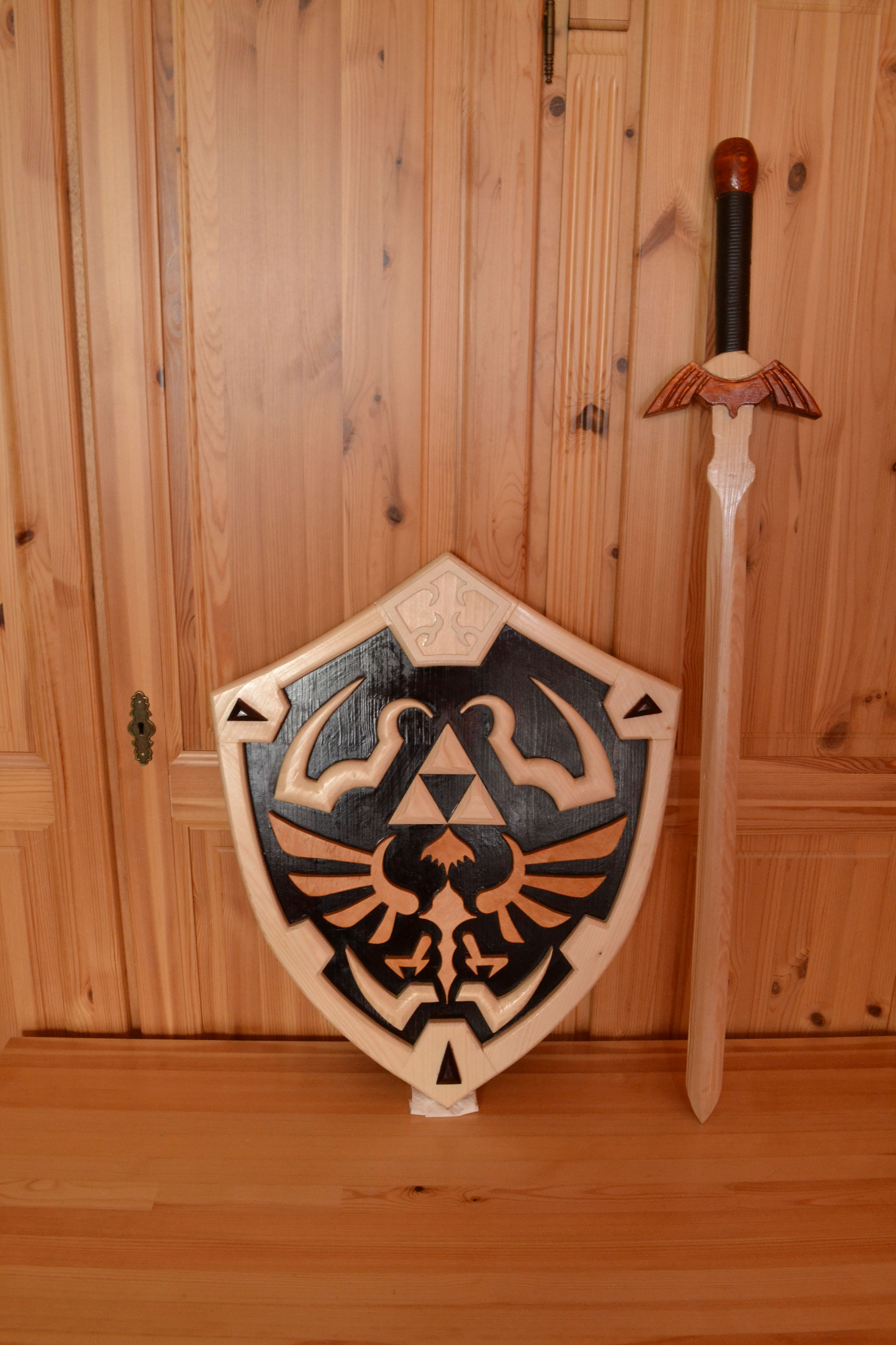 My Hylian Shield And Master Sword The Legend Of Zelda Wood Works