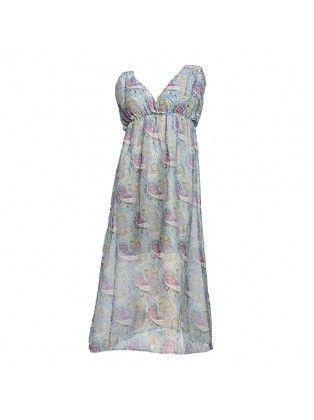 Chiffon V-neck Summer Maxi Dress