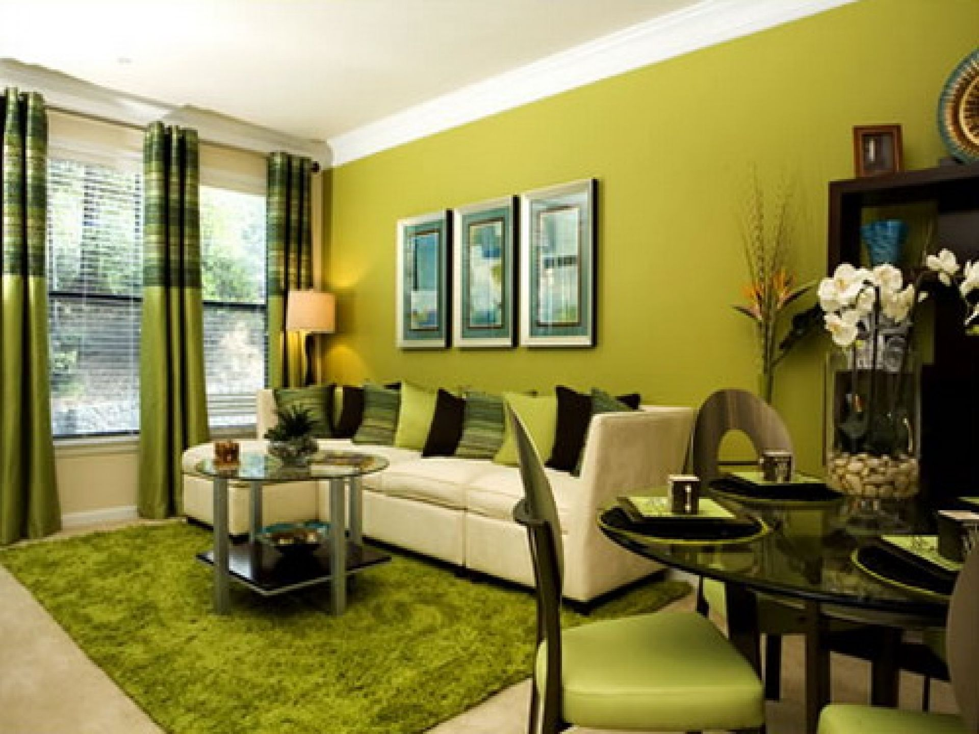 Green Accent Wall Living Room Ideas | http://club-maraton.com ...
