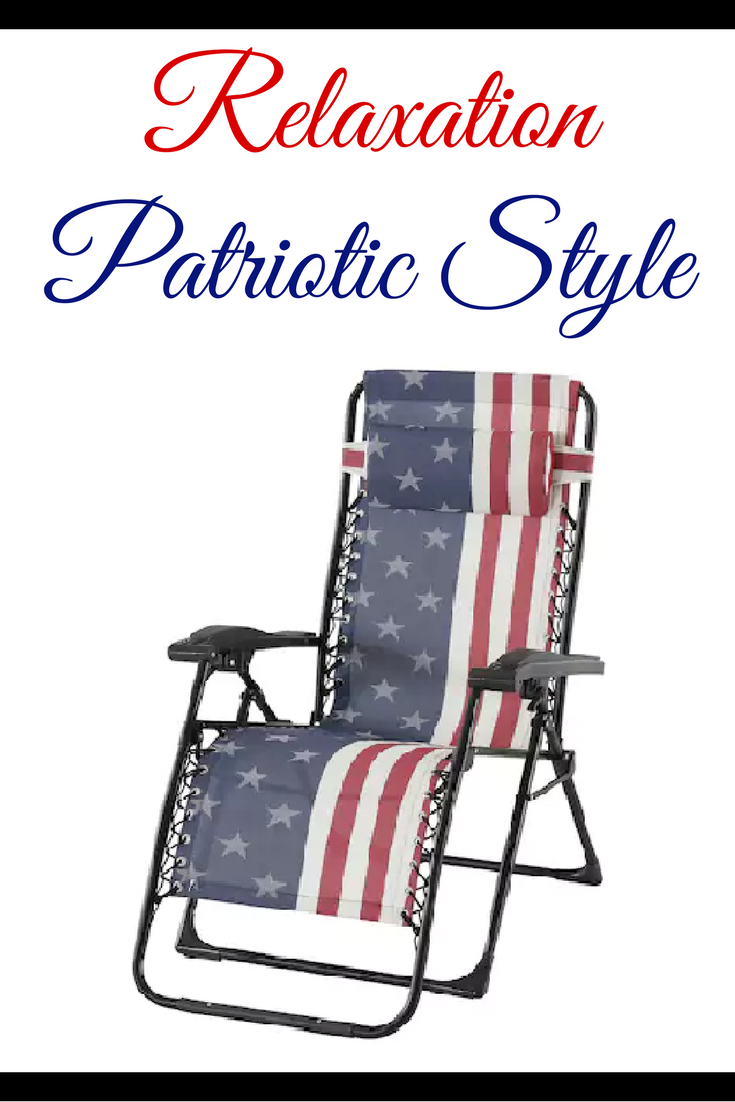 kohls zero gravity chair design blueprints chairs are my favorite and i love the american flag of this one from kohl s would be perfect to have for a 4th july party