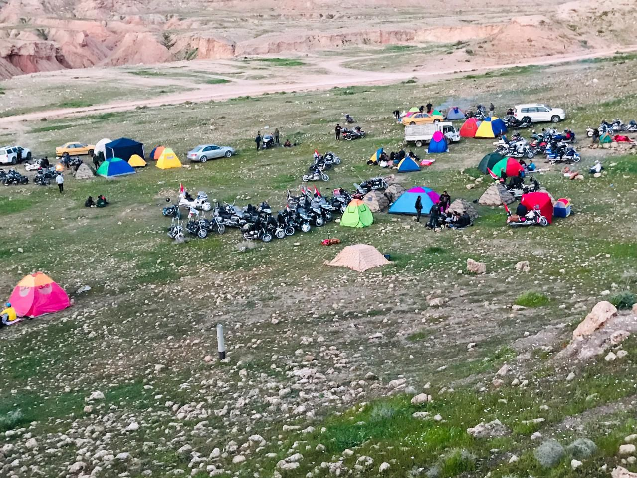 Photo of Irak Biker campen auf dem irakisch-iranischen …