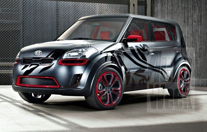 This Kia Soul Has Had A Mean Paint Job Animal Details For - Cool kia cars