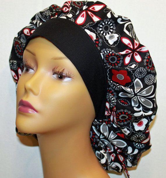 Bouffant style scrub hat