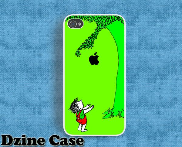 iPhone 5  iPhone 4/4s case  The Giving tree apple by dzinecase, $15.99