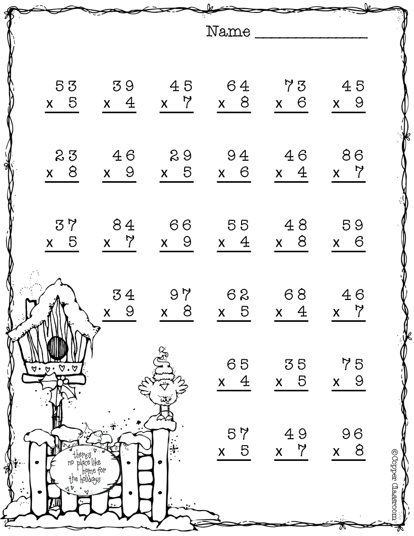 Need extra practice with multiplication? This set includes 10 pages of 2  digit by 1 digit multipl…   Multiplication worksheets [ 1056 x 816 Pixel ]