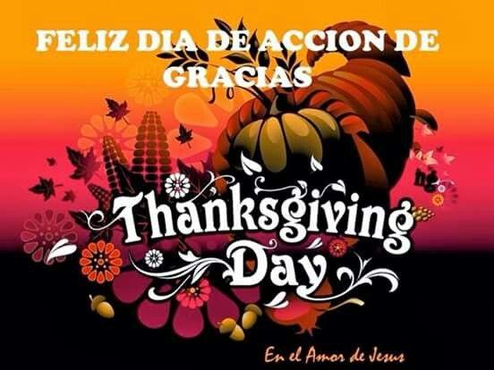 Accion De Gracia Thanksgiving Day Happy Thanksgiving Day Holiday Deco