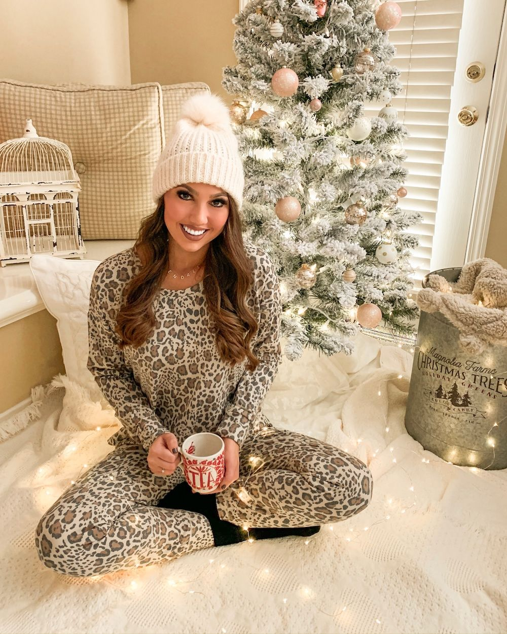 Leopard Lounge Set (With images) Womens christmas