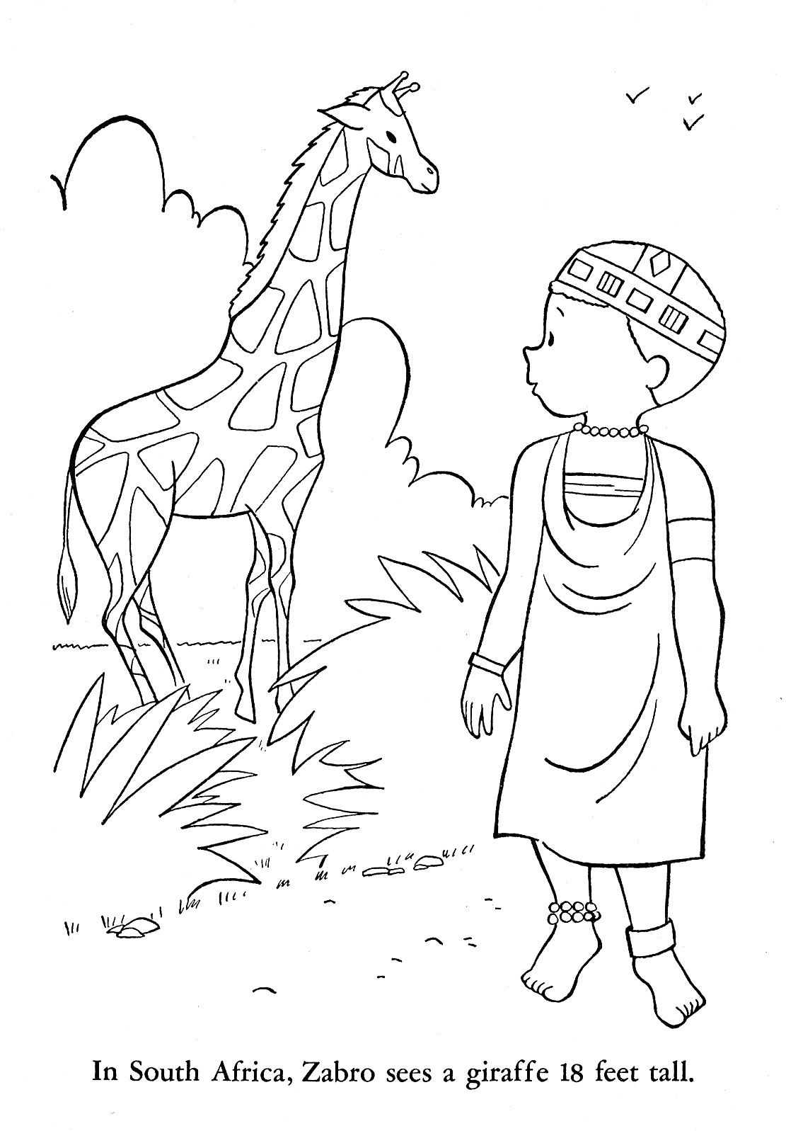 coloring pages for african animals - photo#25