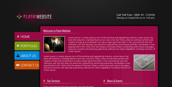 Website Layout Template Flash Website Template  Psd Templates Website Layout And