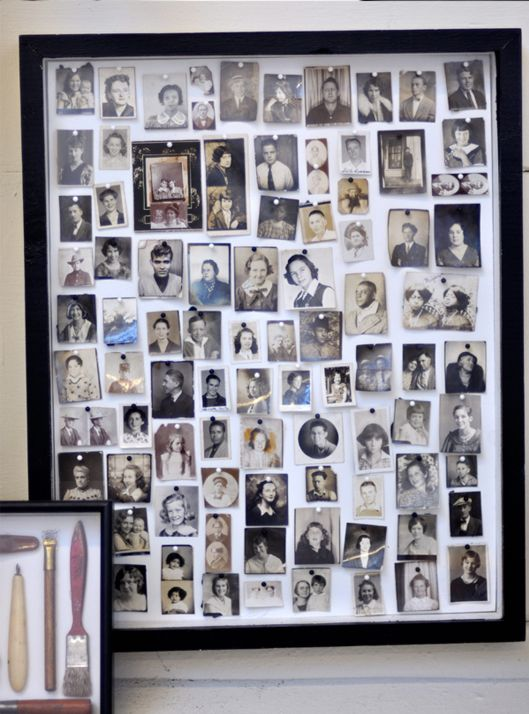 Chez Nous Display Family Photos Photo Wall Display Photo Collage Diy