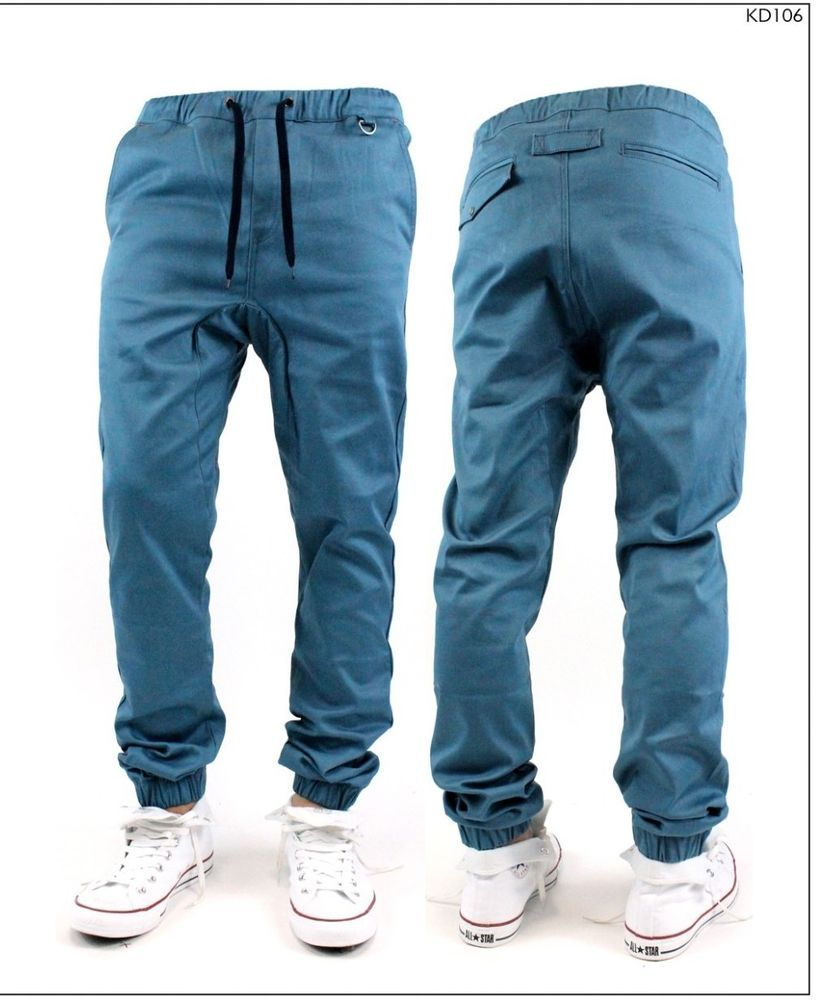 Mens Stretch Jeans Elastic Waist