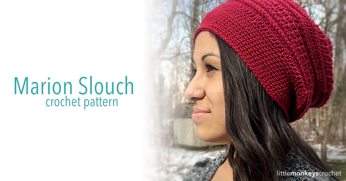 Marion Slouch Hat Crochet Pattern | Free Crochet Pattern by Little ...