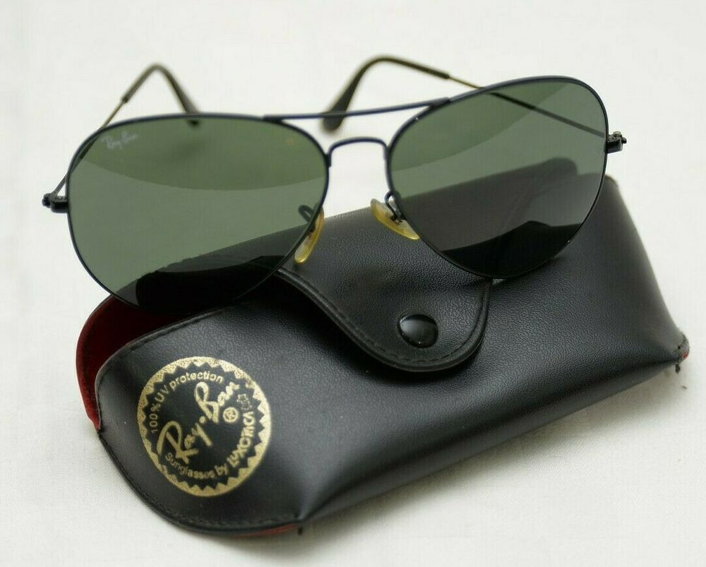 ac503692e7 Vintage RAY BAN 62014 Metal Frame Aviator Sunglasses with Case and Cloth   RayBan  Vintage