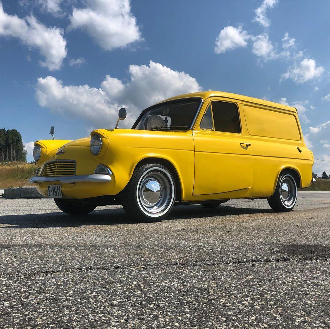 Ford Fordanglia Thames Fordvan Anglia Yellowcar Yellow Lillegul Gul Summer Van Varebil Fordthames Fordangliavan Ford Anglia Ford Van British Cars