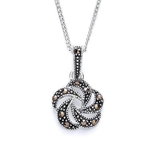 MiChic Damen-Schmuck-Set Sterling-Silber 925, Markasit, Sterling-Silber 85cc636552