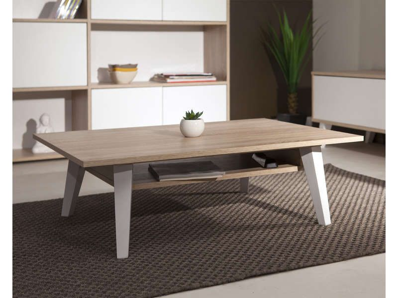 Table Basse Coloris Chene Naturel Vente De Table Basse Conforama Table Basse Salon Table Basse Bois Et Table Basse