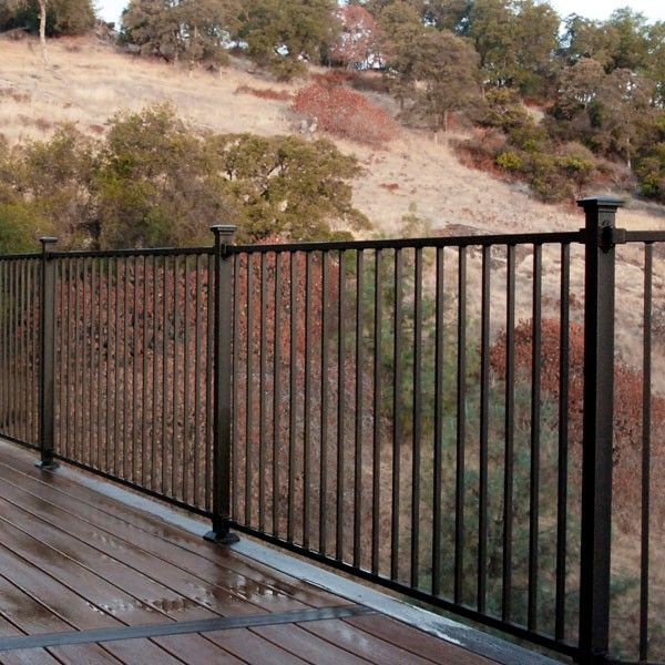 Metal Railings For Decks Home Railing Systems Fortress Fe26 Iron Rail Fe26 Traditional Metal Deck Railing Deck Railings Railings Outdoor