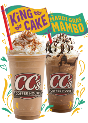 Mardi Gras Coffee Flavors Parade Into Cc S Coffee House For 2019 Carnival Season My New Orleans Coffee Flavor Mardi Gras King Cake Coffee House