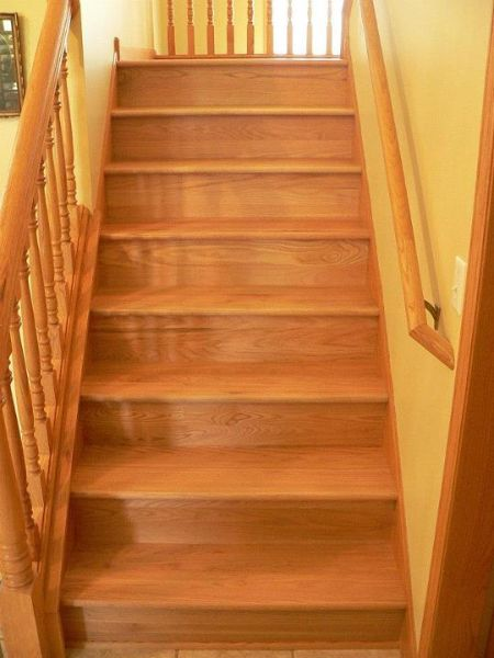 Best Natural Red Oak Treads Risers Flooring Projects 400 x 300