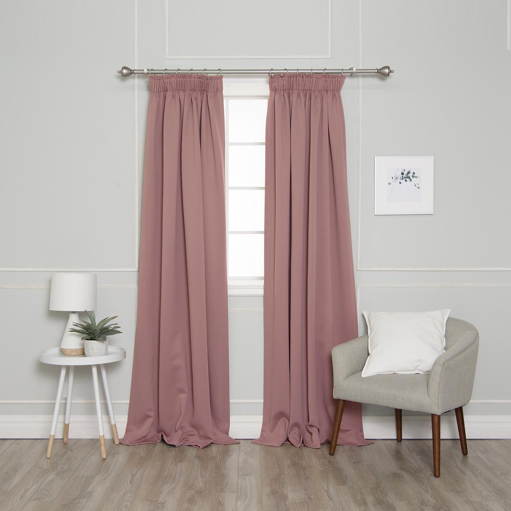 Best Home Fashion 84 In L Pencil Pleat Blackout Curtains In Mauve 2 Pack Yg 49 Rdp Bo 3string 84 Mauve T Dusty Pink Curtains Pink Curtains Cool Curtains