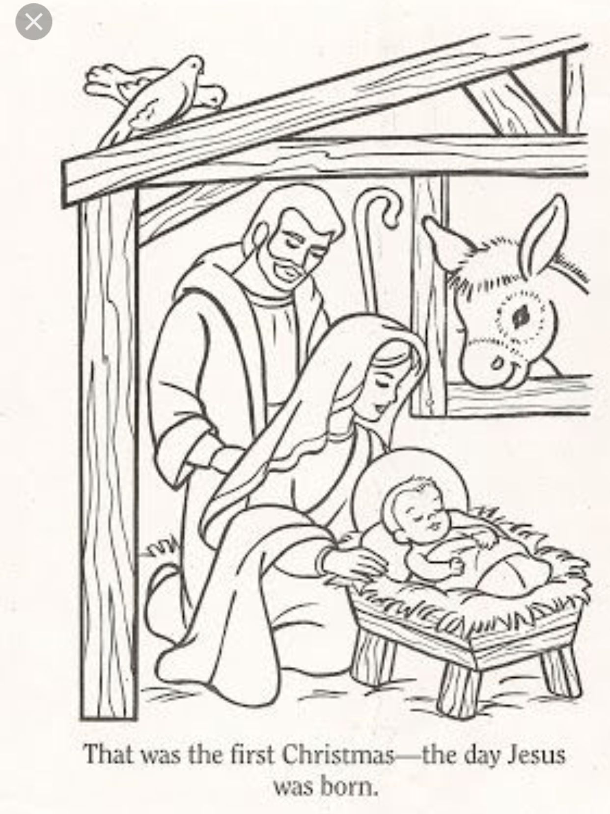 Pin by Linda Bell on Rock Art Nativity coloring pages