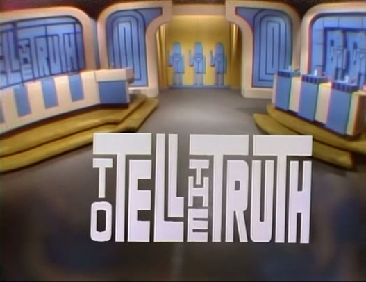 To Tell The Truth Tell The Truth Tv Show Games Game Show
