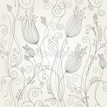 Seamless floral background by Birdhouse - Imagen vectorial ...