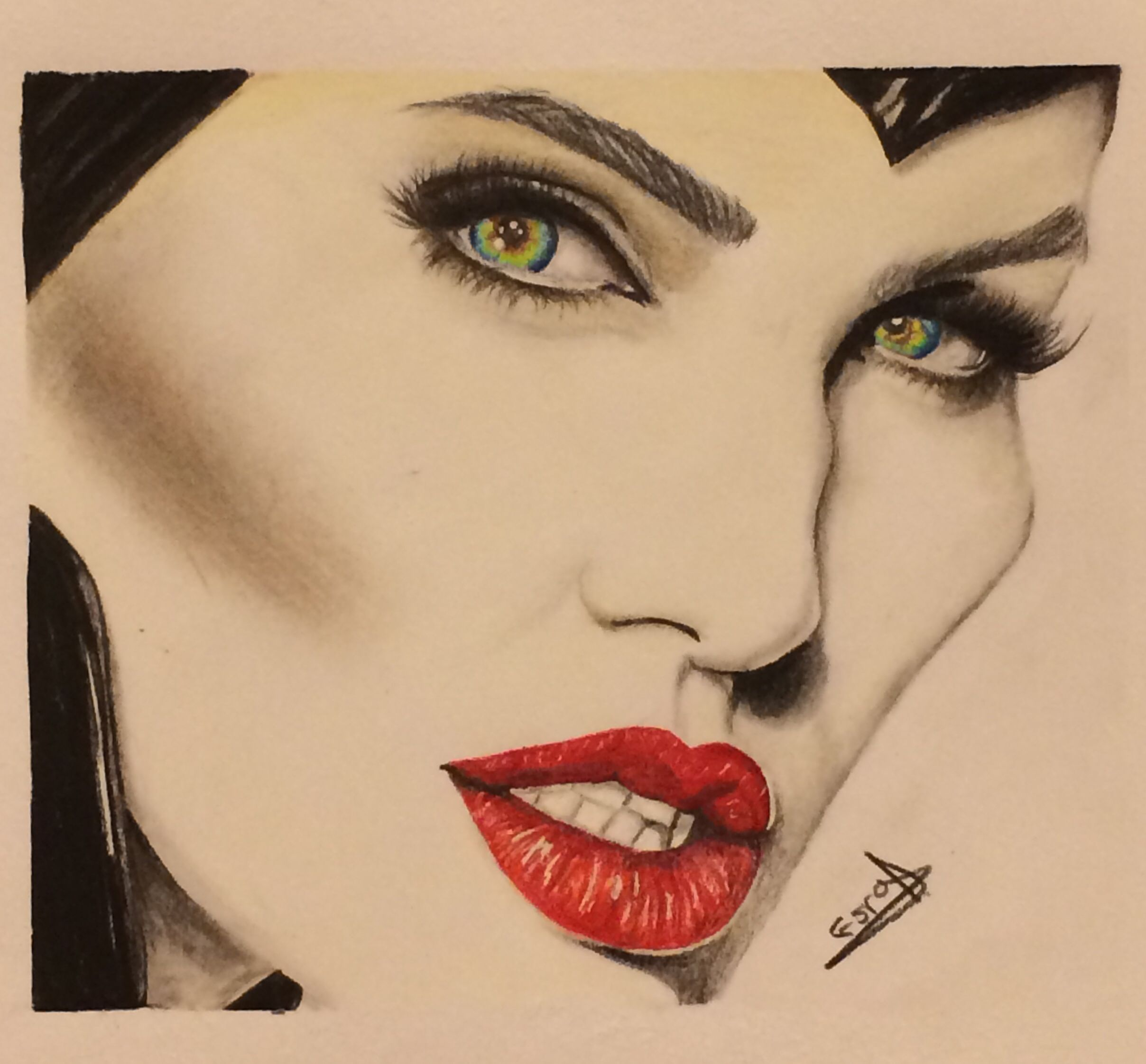 Maleficent Drawing Done With Colored Pencils Cool Art
