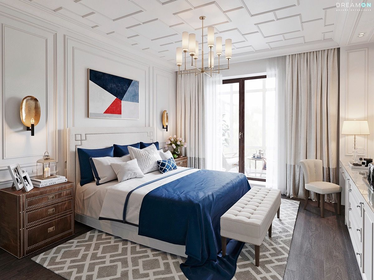White Bedroom Designs With Variety of Cute Wall Texture Decorating ...