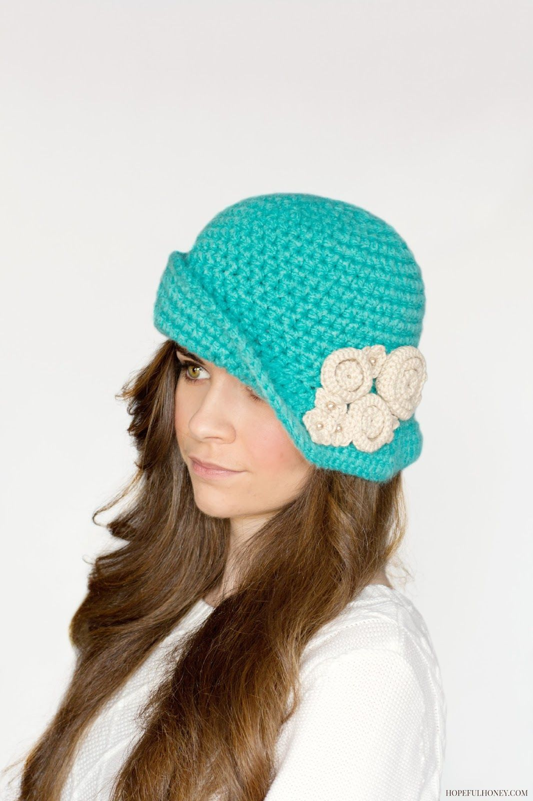 Charleston Cloche Hat Crochet Pattern | Hüte, Mütze und Hüte und Mützen