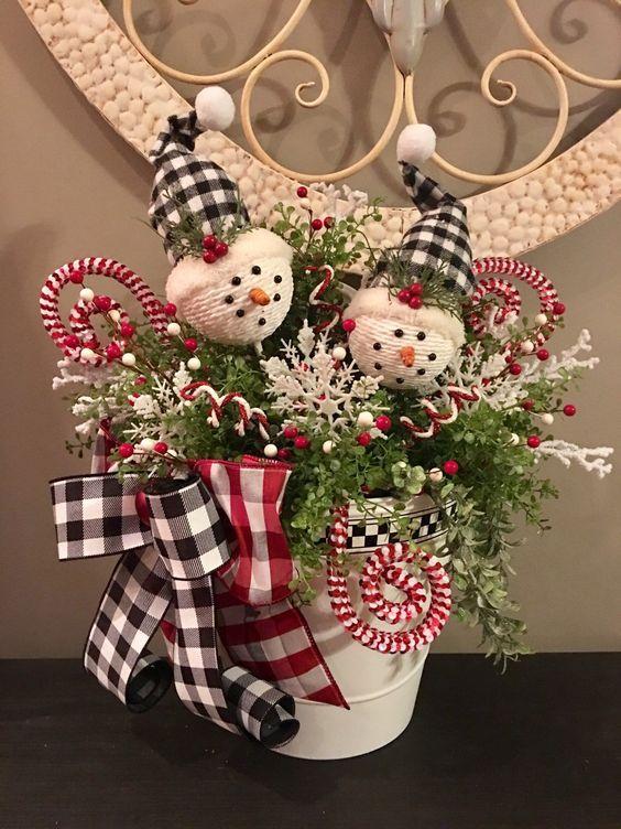 Decorazioni Natalizie Con Il Polistirolo.Excited To Share This Item From My Etsy Shop Snowman Centerpiece Snowman Wall Decorazioni Di Paese Natale Natale Artigianato Decorazioni Di Natale Fai Da Te