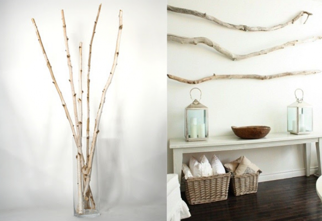 6 Idées Pour Utiliser Une Branche D Arbre En Déco Joli Place Deco Décoration Maison Branche Deco